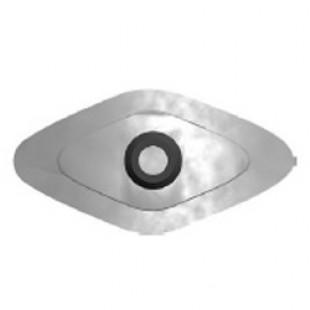 Скоба металлическая с EPDM прокладкой - ромб