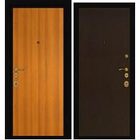 Дверь Премиум Металлический лист 1 Красное дерево