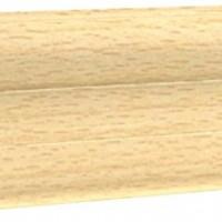 Плинтус напольный с кабель-каналом Ecoline арт.109 Бук ясный