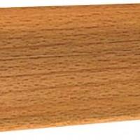 Плинтус напольный с кабель-каналом Ecoline арт.121 Бук темный