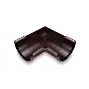 Внутренний угол 90° GALECO PVC полукруглый с усиленным уплотнительным элементом, Ø 124 мм. (белый/коричневый) .