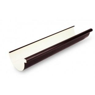 """Водосточный желоб GALECO  коэкструзионный с  системой """"Stop-overflow"""" PVC Ø 124 мм. (белый/коричневый), 4 м.п. (белый/коричневый)"""